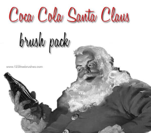 フォトショップ ブラシ 無料 クリスマス サンクロース 聖夜 Photoshop Santa Claus Brush Free abr Coca-Cola Santa Claus