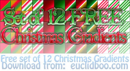 Photoshop Christmas Gradation Free grd フォトショップ クリスマス グラデーション フリー 無料 Christmas Reds and Greens Gradients