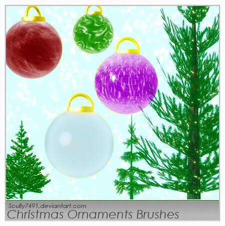 フォトショップ ブラシ 無料 クリスマス オーナメント 飾り 無料 Photoshop Christmas Ornament Brush Free abr Christmas Ornament Brushes