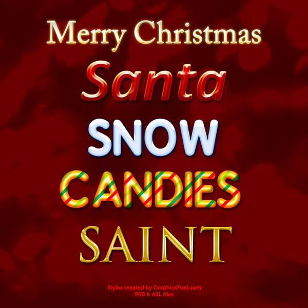 Photoshop Christmas Text Effect Xmas フォトショップ クリスマス テキストエフェクト