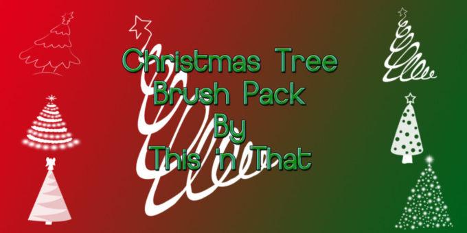 フォトショップ ブラシ 無料 クリスマス  クリスマスツリー Photoshop Christmas Tree Brush Free abr Christmas Tree Brush Pack