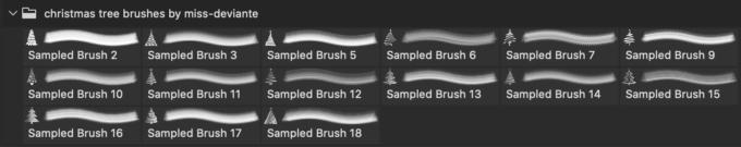 フォトショップ ブラシ 無料 クリスマス  クリスマスツリー Photoshop Christmas Tree Brush Free abr Christmas Tree brushes set2
