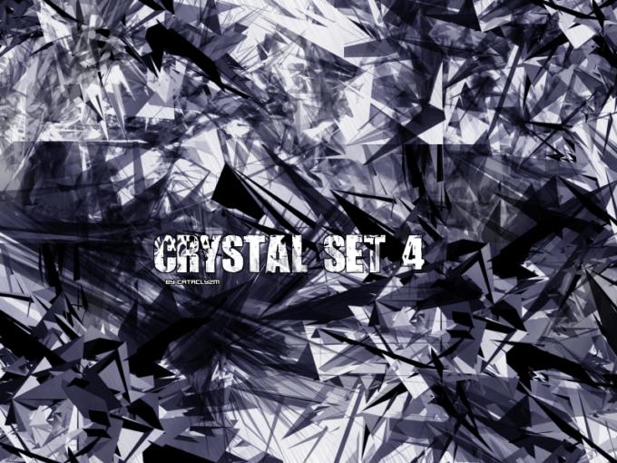 フォトショップ ブラシ Photoshop Glass  Crystal Brush 無料 イラスト ガラス クリスタル Clyzm CRYSTAL Brushes Set 4