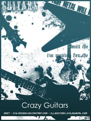 フォトショップ ブラシ Photoshop Guitar Brush 無料 イラスト ギター Crazy Guitars