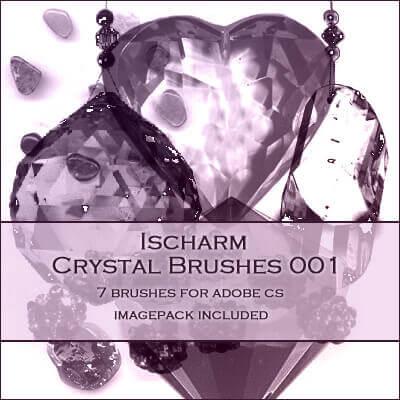 フォトショップ ブラシ Photoshop Glass  Crystal Brush 無料 イラスト ガラス クリスタル Ischarm Crystal Brushes 001