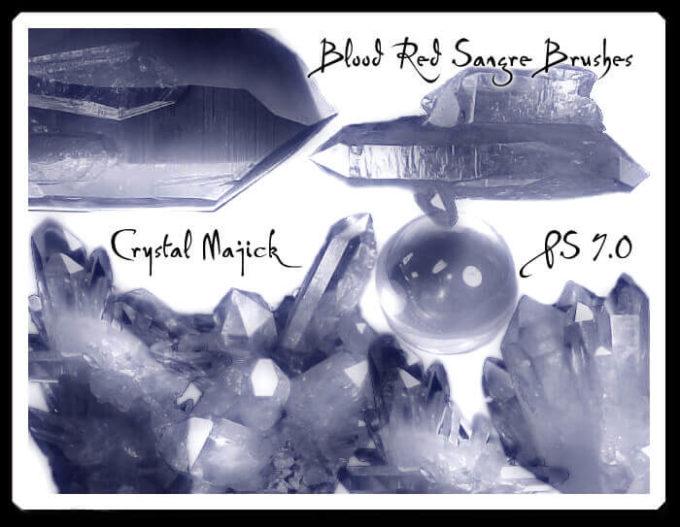 フォトショップ ブラシ Photoshop Glass  Crystal Brush 無料 イラスト ガラス クリスタル Crystal Majick