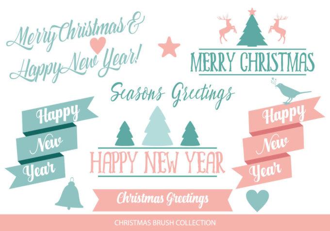 フォトショップ ブラシ 無料 クリスマス ラベル テキスト Photoshop Christmas Label Brush Free abr Cute Collection Of Christmas Brushes