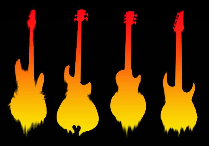 フォトショップ ブラシ Photoshop Guitar Brush 無料 イラスト ギター Deathly Guitar Brushes