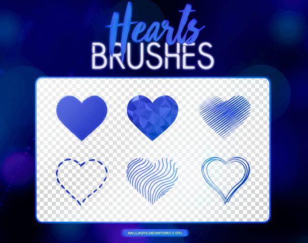 フォトショップ ブラシ 無料 ハート Photoshop Heart Brush Free abr Decorative Heart Designs