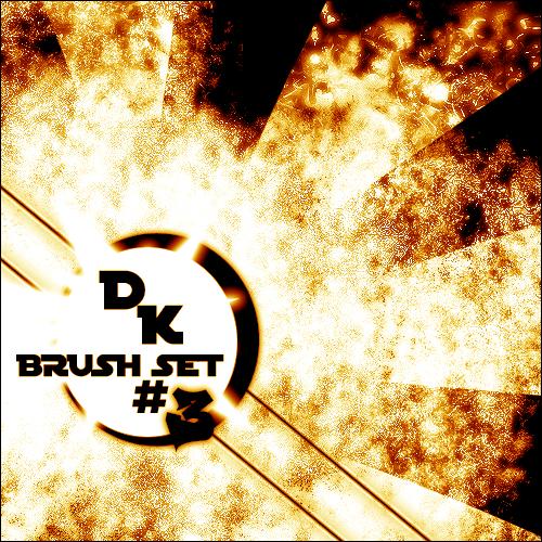 フォトショップ ブラシ Photoshop Fire Brush 無料 イラスト 火 炎 ファイヤー Der Konig's Brush Set 3