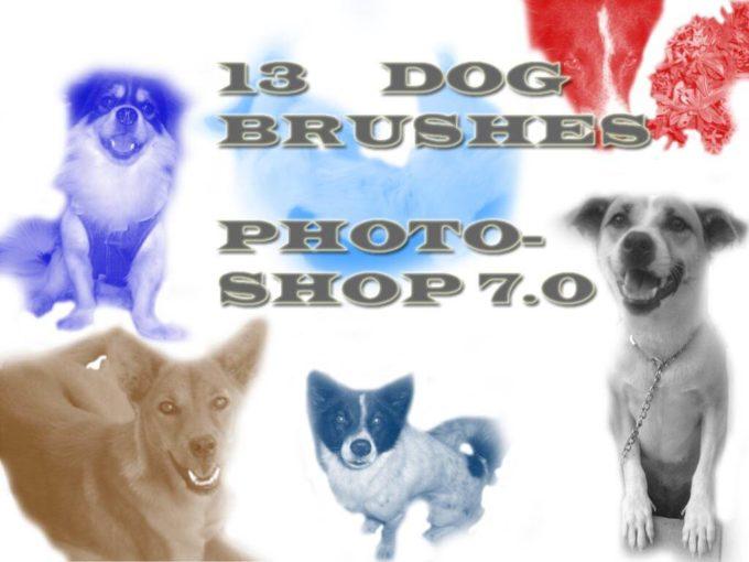 フォトショップ ブラシ Photoshop Dog Brush 無料 イラスト ドッグ 犬 Photoshop 7.0 Dog Brushes
