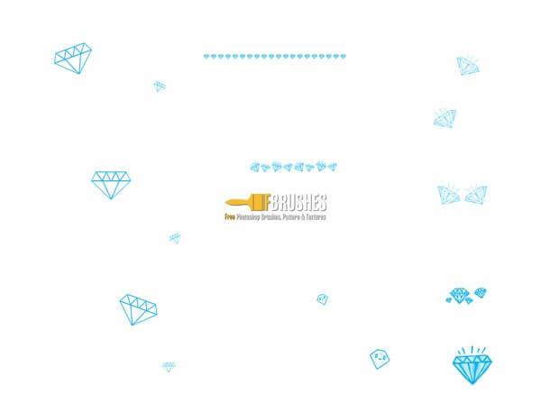 フォトショップ ブラシ Photoshop Jewelry Brush 無料 イラスト 宝石 ダイヤ ダイヤモンド Drawn Diamonds
