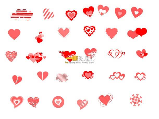 フォトショップ ブラシ 無料 ハート Photoshop Heart Brush Free abr Floating Away on Hearts