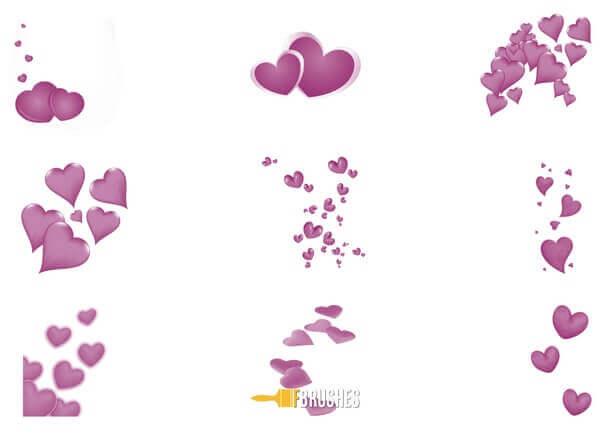 フォトショップ ブラシ 無料 ハート Photoshop Heart Brush Free abr Floating Hearts