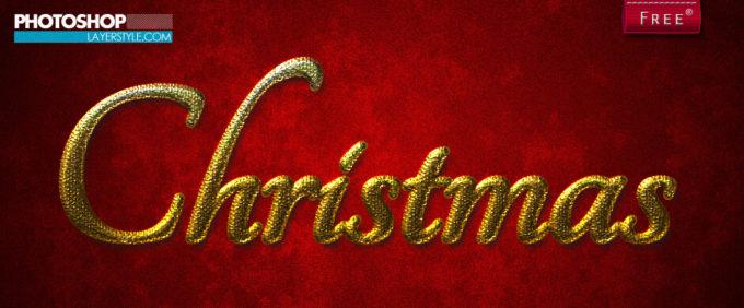 Photoshop Christmas Layer Style フォトショップ クリスマス レイヤースタイル Gold Christmas layer style
