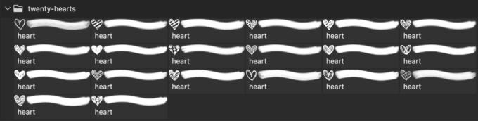 フォトショップ ブラシ 無料 ハート Photoshop Heart Brush Free abr 20 Hearts Brushes