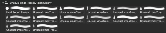 フォトショップ ブラシ 無料 クリスマス クリスマスツリー Photoshop Christmas Tree Brush Free abr Free Unusual Christmas Trees PNG's plus Brushes