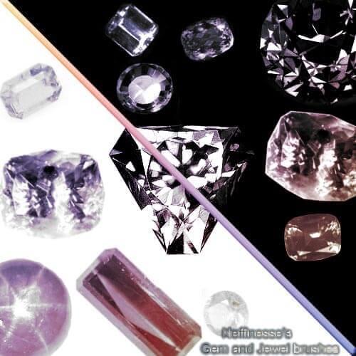 フォトショップ ブラシ Photoshop Jewelry Brush 無料 イラスト 宝石 ジュエル Gems and Jewels