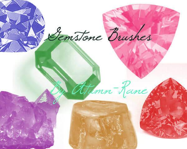 フォトショップ ブラシ Photoshop Jewelry Brush 無料 イラスト 宝石 ジェム Gemstone Brushes