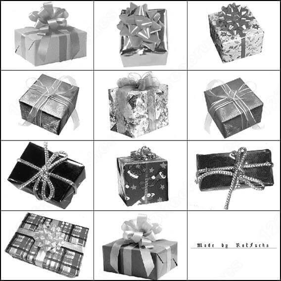 フォトショップ ブラシ Photoshop Gift Box Present Brush 無料 イラスト ギフトボックス プレゼント Gift Box Photoshop Brush