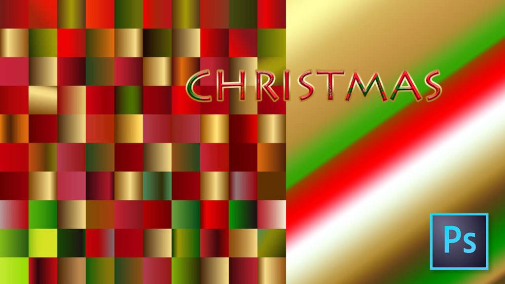 Photoshop Gradation Christmas Free grd フォトショップ グラデーション クリスマス 無料 素材