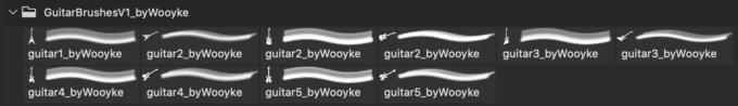 フォトショップ ブラシ Photoshop Guitar Brush 無料 イラスト ギター GuitarBrushes_V1