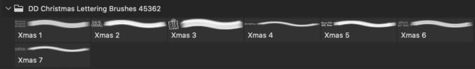 フォトショップ ブラシ 無料 クリスマス ラベル テキスト Photoshop Christmas Label Brush Free abr Hand Drawn Christmas Lettering Brushes