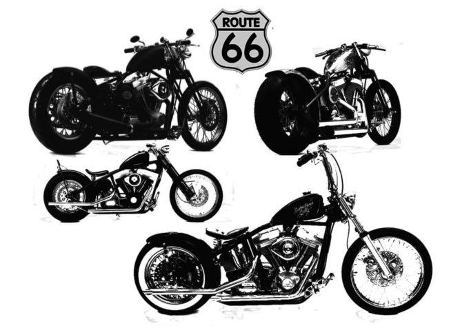 フォトショップ ブラシ Photoshop Bike Brush 無料 イラスト バイク ハーレーダビッドソン Bobber Bike Harley Davidson