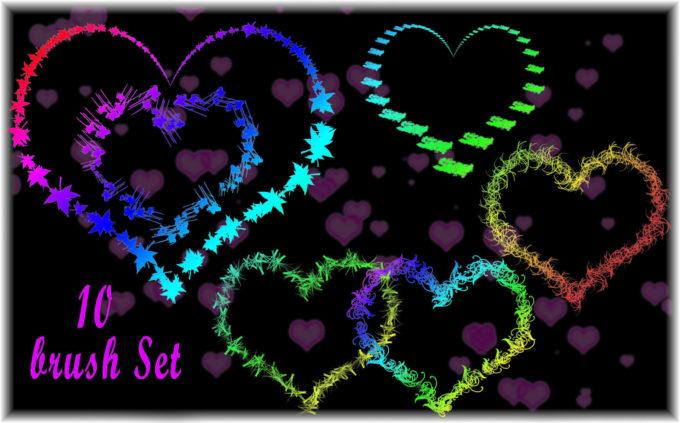 フォトショップ ブラシ 無料 ハート Photoshop Heart Brush Free abr Love Heart Brush