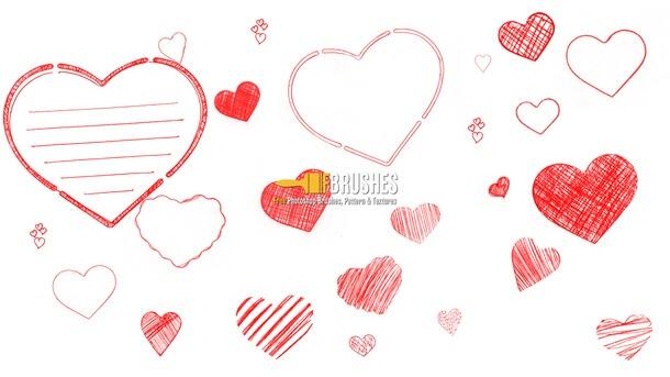 フォトショップ ブラシ 無料 ハート Photoshop Heart Brush Free abr  Heart Fever
