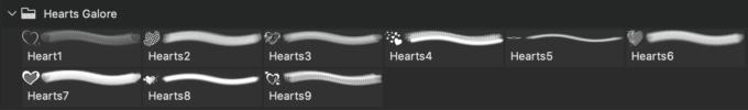フォトショップ ブラシ 無料 ハート Photoshop Heart Brush Free abr   Hearts Galore