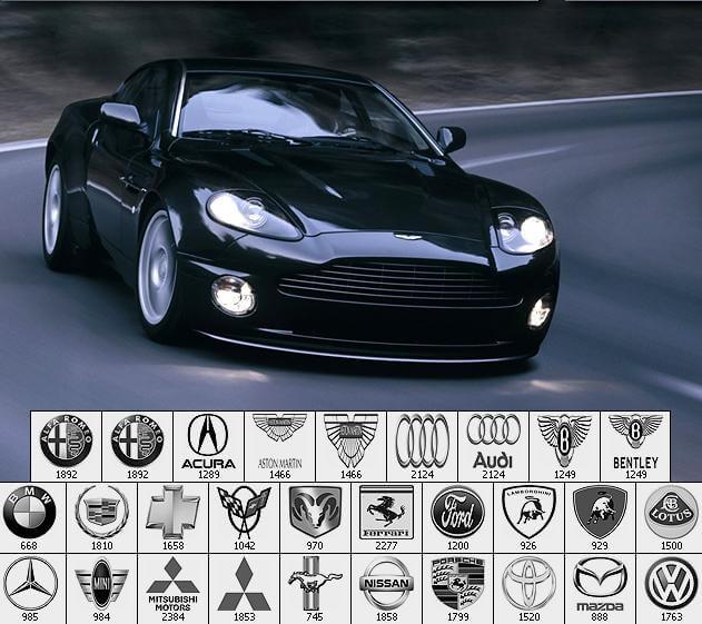 フォトショップ ブラシ Photoshop Car Brush 無料 イラスト 車 カー エンブレム High Res Car Logos