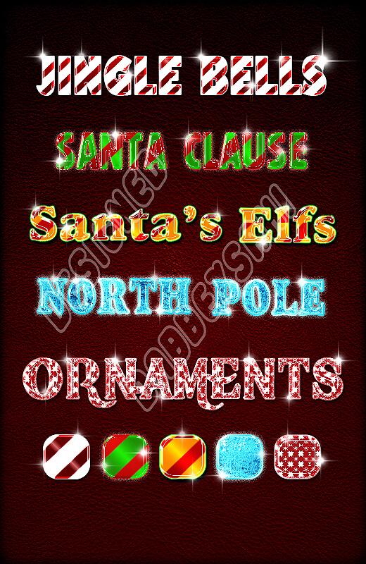 Photoshop Christmas Text Effect Xmas フォトショップ クリスマス テキストエフェクト holiday style 2 by dabbexsahi