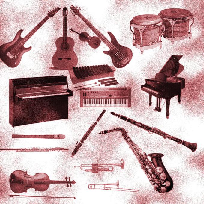 フォトショップ ブラシ Photoshop Musical instrument Brush 無料 イラスト 音楽 楽器 Instruments