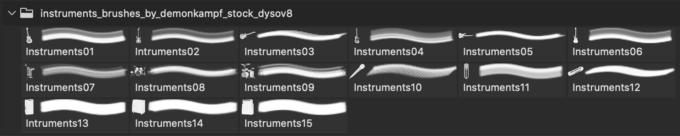 フォトショップ ブラシ Photoshop Musical Instrument Brush 無料 イラスト 楽器 Instruments Brushes