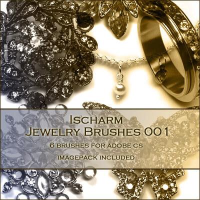 フォトショップ ブラシ Photoshop Jewelry Brush 無料 イラスト 宝石 ジュエル アクセサリー Ischarm Jewelry Brushes 001