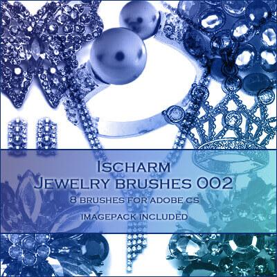 フォトショップ ブラシ Photoshop Jewelry Brush 無料 イラスト 宝石 ジュエル アクセサリー Ischarm Jewelry Brushes 002