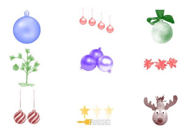フォトショップ ブラシ 無料 クリスマス オーナメント 飾り 無料 Photoshop Christmas Ornament Brush Free abr Jingle Balls