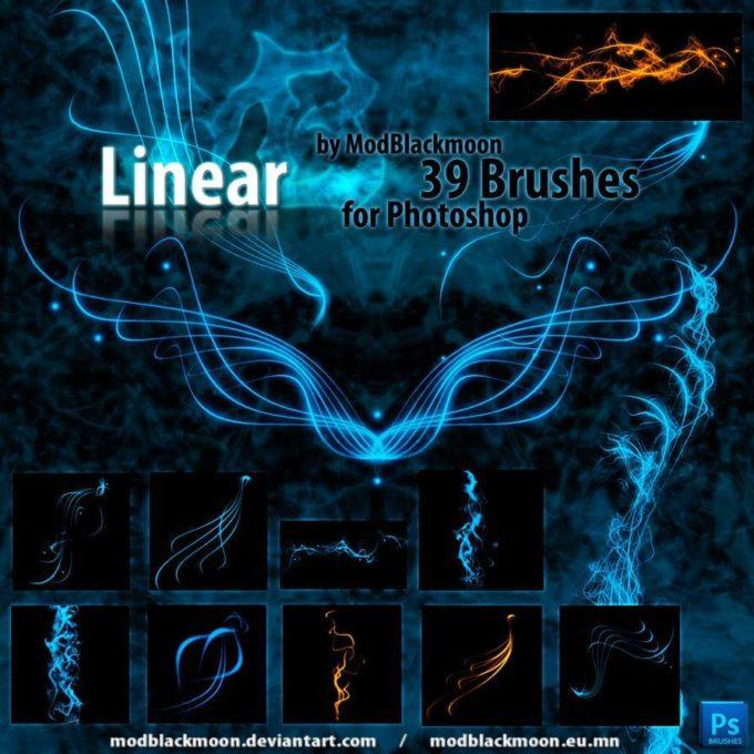 フォトショップ ブラシ Photoshop Fire Brush 無料 イラスト 火 炎 ファイヤー MB-Linear