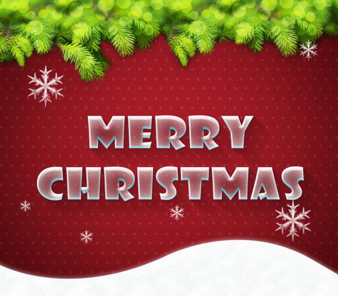 Photoshop Christmas Text Effect Xmas フォトショップ クリスマス テキストエフェクト Merry Xmas Text Style