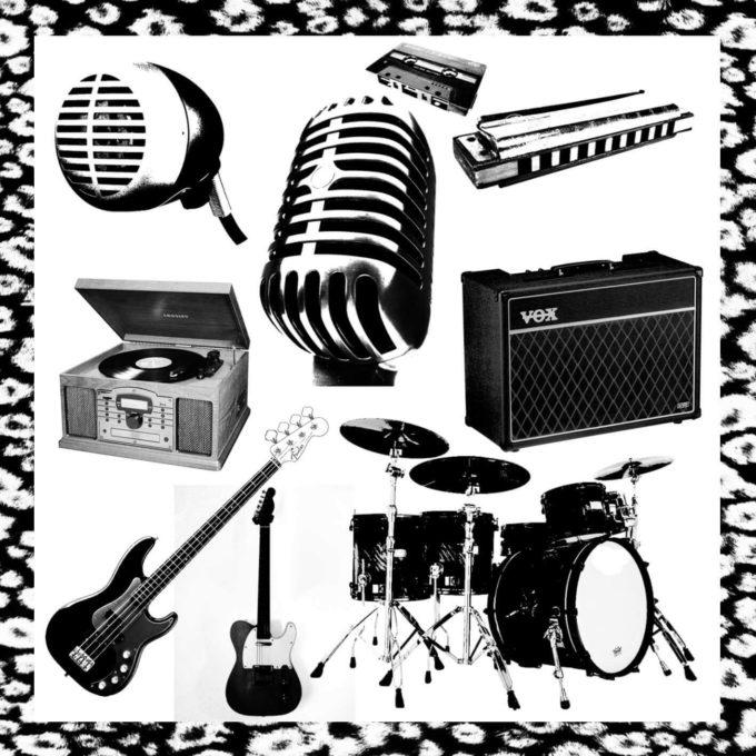 フォトショップ ブラシ Photoshop Musical instrument Brush 無料 イラスト 音楽 楽器 music brush by STV