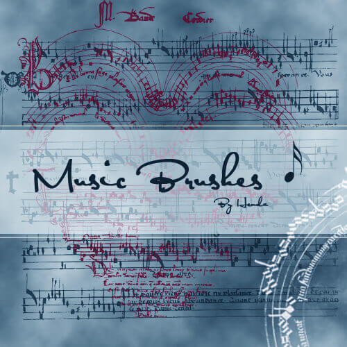 フォトショップ ブラシ Photoshop Music Note Brush 無料 イラスト 音楽  音符 楽譜 譜面 Music Brush