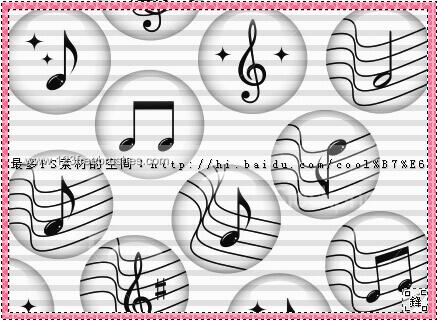 フォトショップ ブラシ Photoshop Music Note Brush 無料 イラスト 音楽  音符 楽譜 譜面