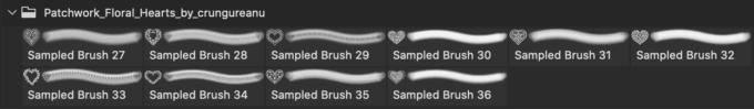 フォトショップ ブラシ 無料 ハート Photoshop Heart Brush Free abr Floral Heart Brushes