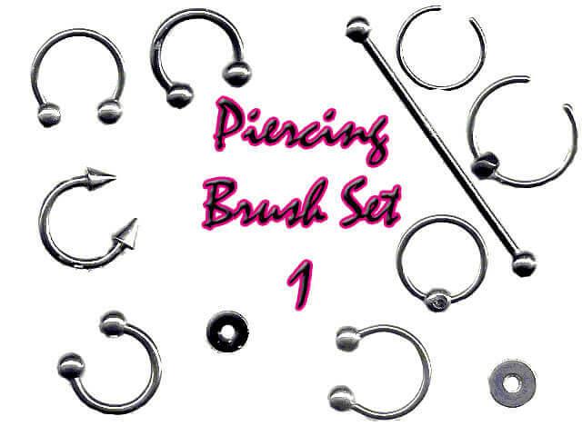 フォトショップ ブラシ Photoshop Jewelry Brush 無料 イラスト 宝石 ジュエル アクセサリー Piercing Brush Set 2