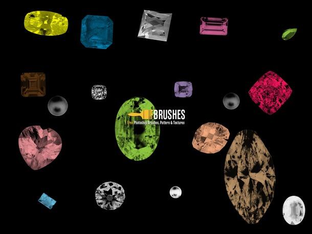 フォトショップ ブラシ Photoshop Jewelry Brush 無料 イラスト 宝石 ジェム Precious Gems