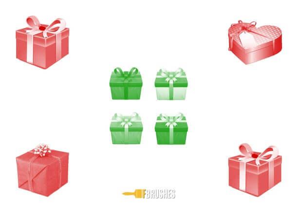 フォトショップ ブラシ Photoshop Gift Box Present Brush 無料 イラスト ギフトボックス プレゼント Pretty Packages