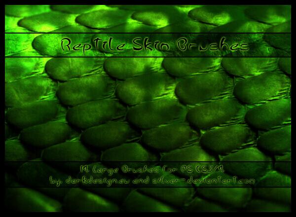 フォトショップ ブラシ Photoshop Snake Brush 無料 イラスト 蛇 ヘビ へび スネーク 皮 Reptile Skin Brushes