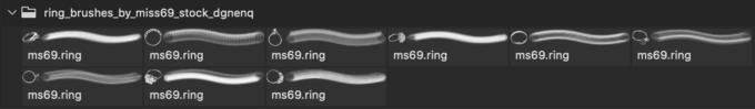 フォトショップ ブラシ Photoshop Accessories Brush 無料 イラスト アクセサリー 指輪 リング Ring Brushes