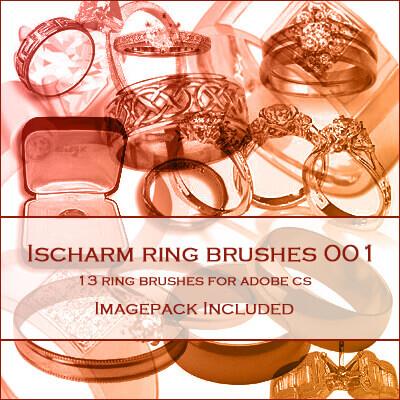 フォトショップ ブラシ Photoshop Jewelry Brush 無料 イラスト 宝石 ジュエル アクセサリー 指輪 リング IIscharm Ring Brushes 001